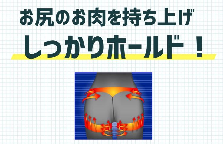 プロフェッショナルスレンダーメイクレギンスのお尻補正を表した画像
