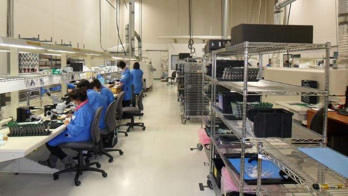 プロフェッショナルスレンダーメイクレギンスの縫製工場の様子の画像