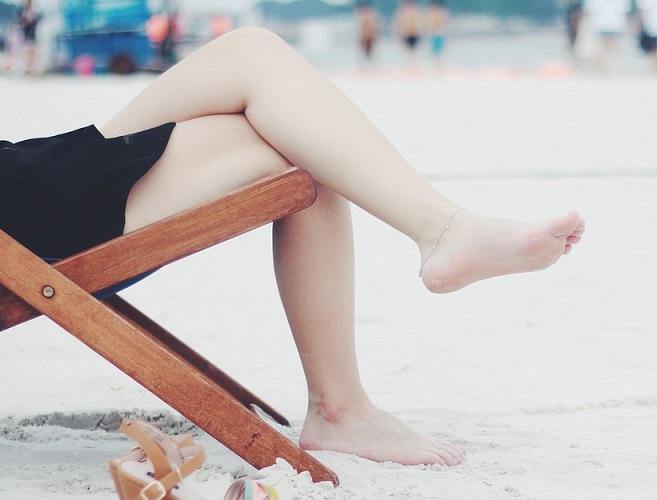 むくみのある脚