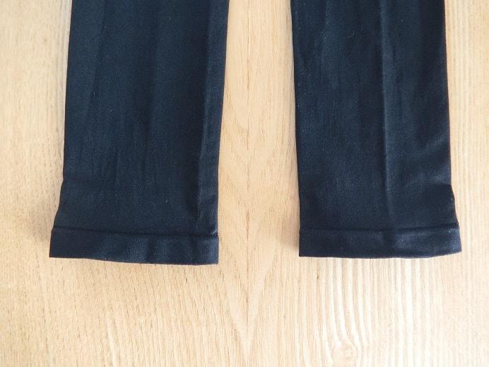 プロフェッショナルスレンダーメイクレギンスの裾部分画像